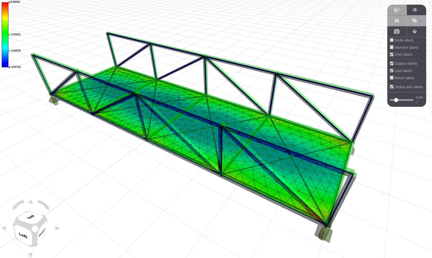 Steel pedestrian bridge structural analysis - WeStatiX community project